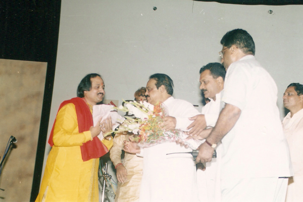 Ronumajumdar with chagan bhujbal