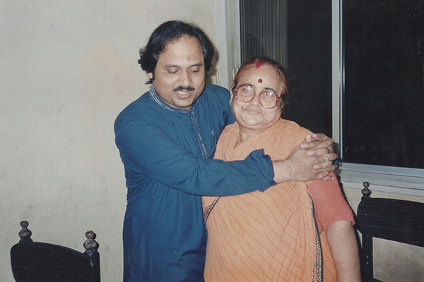 With mother Smt.Reba Majumdar