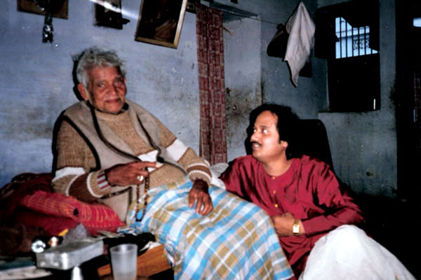 with Guru Pt. Mahedev Prasad Mishra