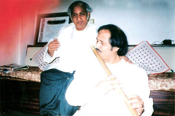 with Guru Pt. Vijay Raghav Rao