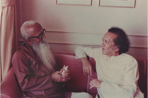Father & Guru Dr. Bhanu Majumdar & Grand Guru Pt. Ravi Shankar