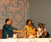 Performing at Town Hall Auckland in New Zealand in 1998 along with Pt. Abhijit Banerjee