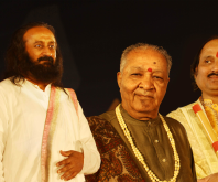 With SriSriRavishankar and Pt Hariprasad Chaurasia at Nashik