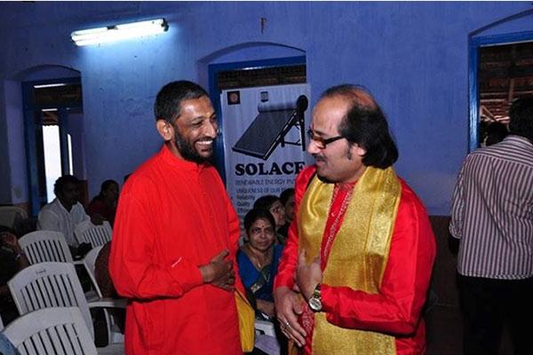 with Swami Adyatmananda Saraswathi